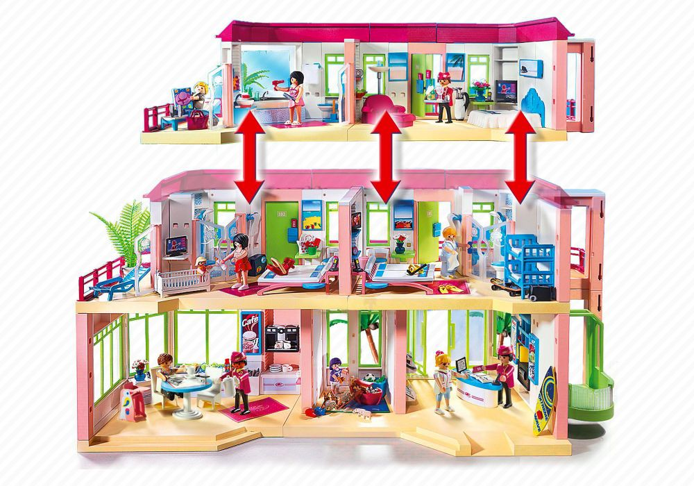 playmobil summer fun 5265 pas cher grand h tel. Black Bedroom Furniture Sets. Home Design Ideas