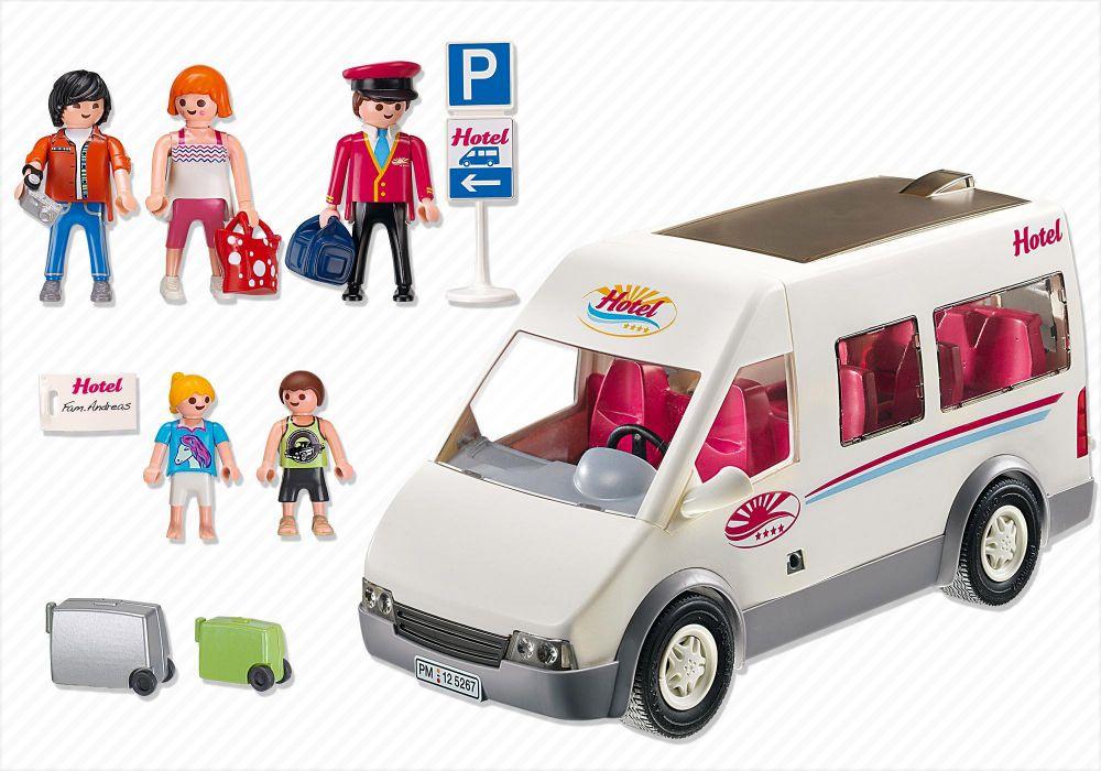 Playmobil summer fun 5267 pas cher mini bus de l 39 h tel - Autocar playmobil ...