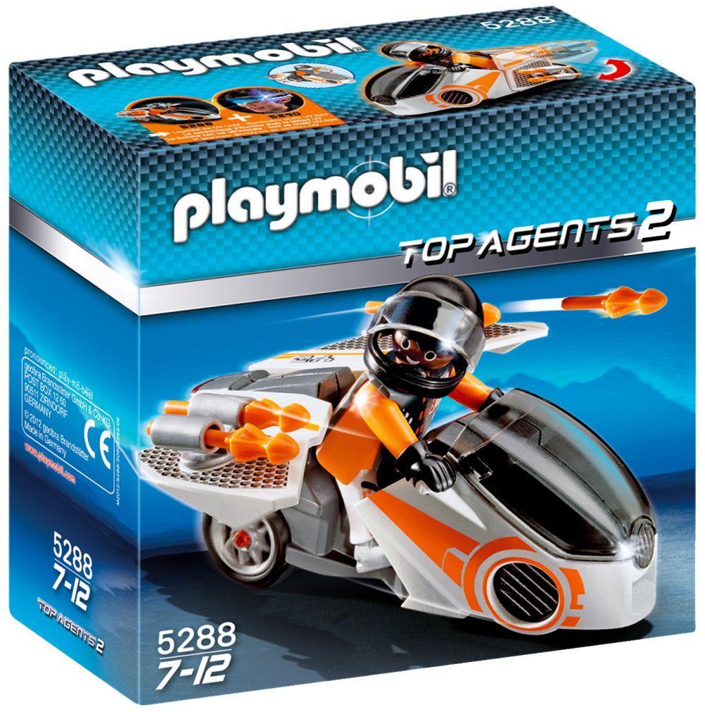 playmobil top agents 5288 pas cher  moto et agent secret