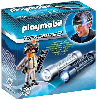 PLAYMOBIL Top Agents 5290 Lampes d'espionnage avec Agent Secret