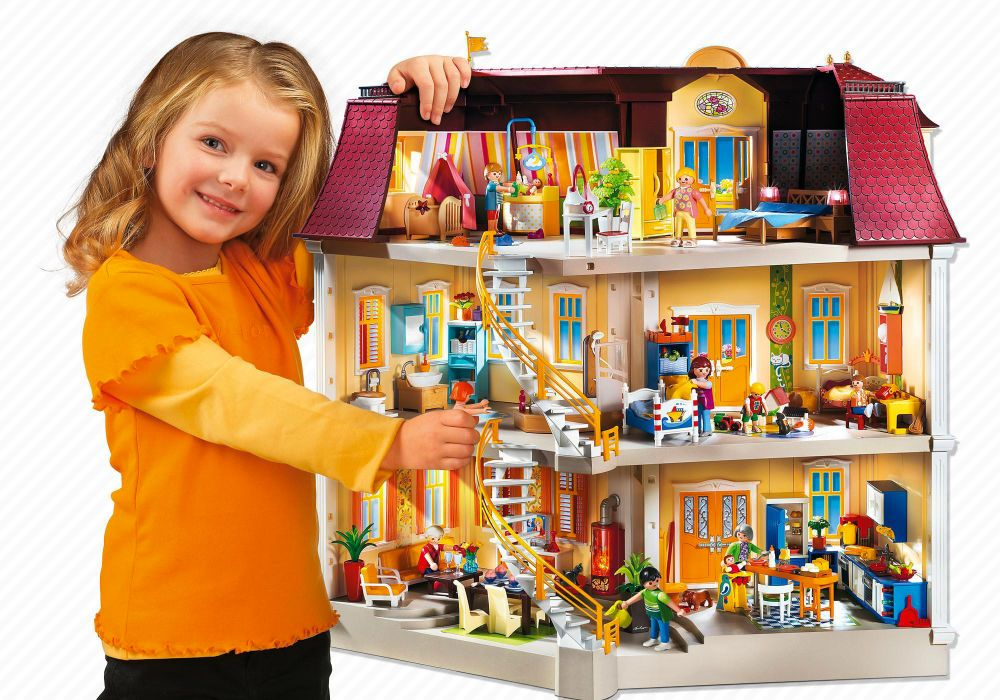 playmobil dollhouse 5302 pas cher maison de ville. Black Bedroom Furniture Sets. Home Design Ideas
