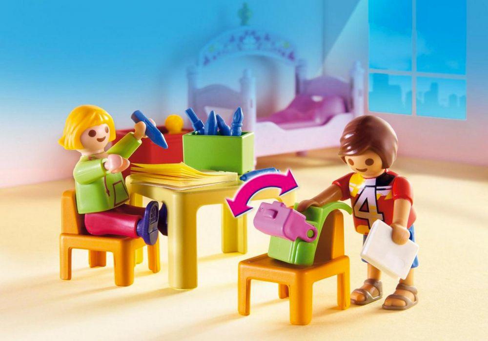 Playmobil dollhouse 5306 pas cher chambre d 39 enfants avec for Playmobil chambre enfant
