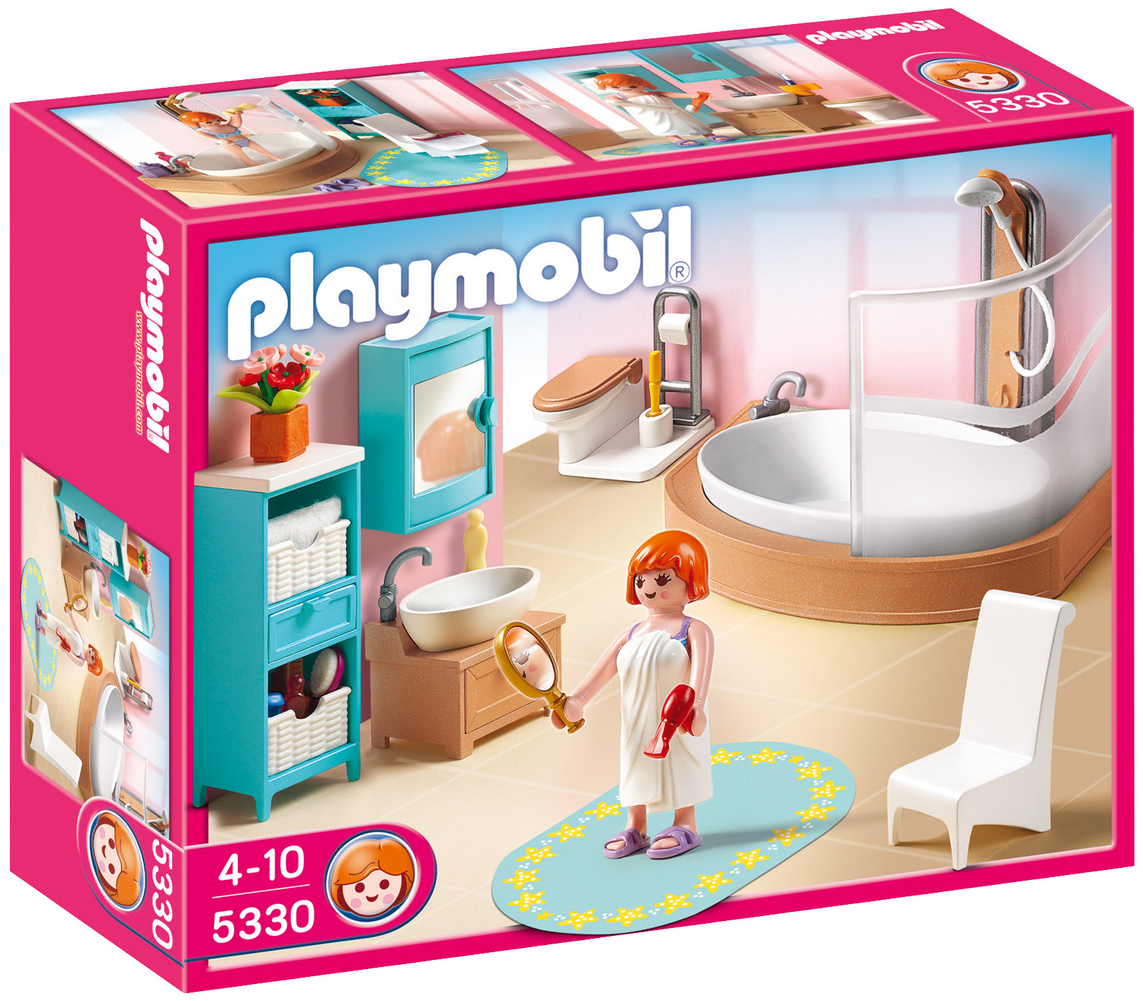 playmobil dollhouse 5330 salle de bains avec baignoire et pare douche