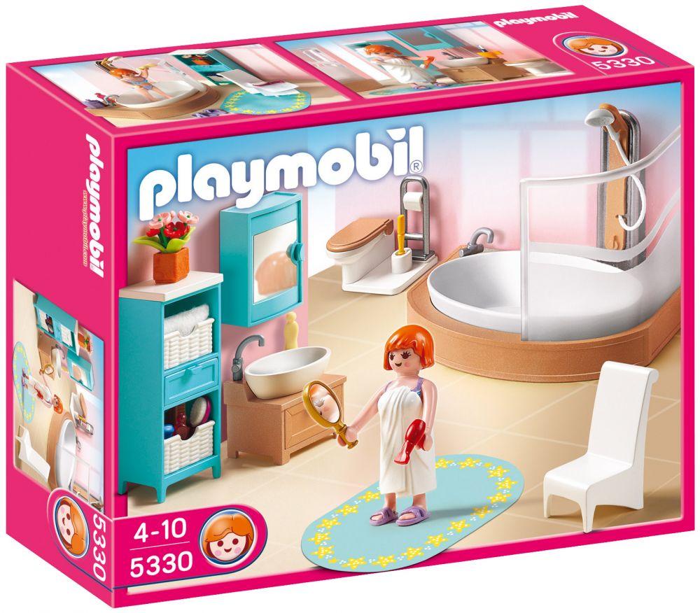 Playmobil Dollhouse 5330 Pas Cher Salle De Bains Avec Baignoire Et