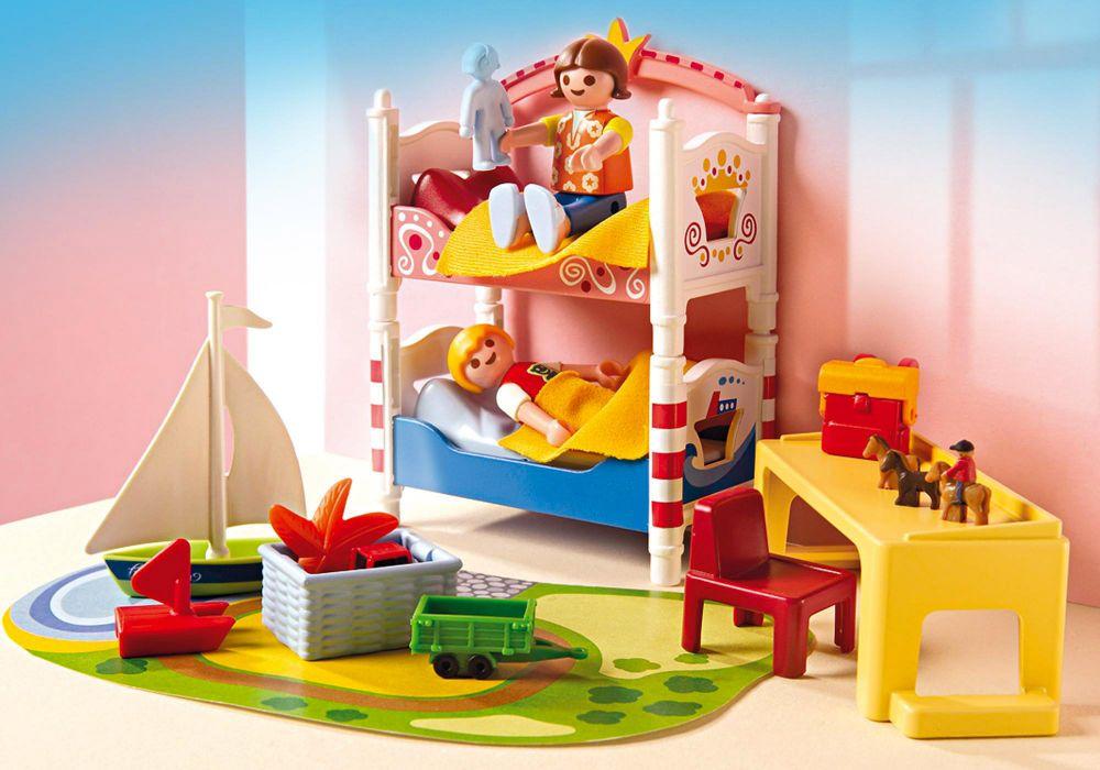 Playmobil dollhouse 5333 pas cher chambre des enfants for Chambre de enfants
