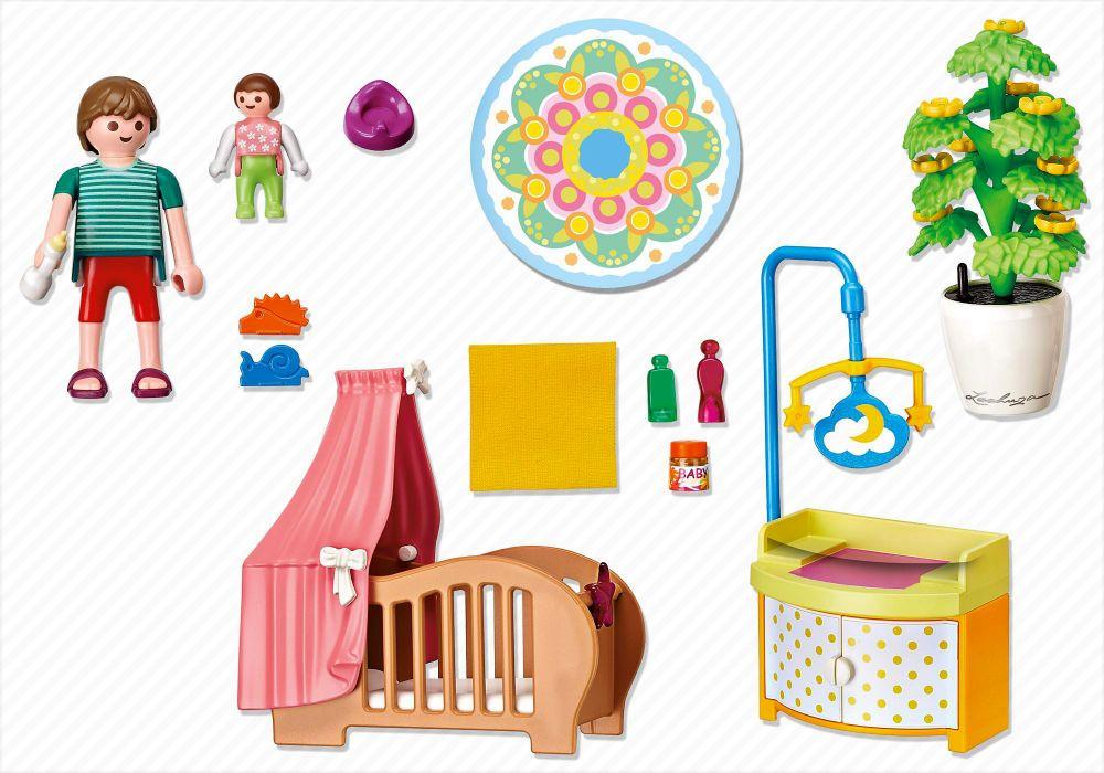 Playmobil dollhouse 5334 pas cher chambre de b b avec for Playmobil chambre enfant