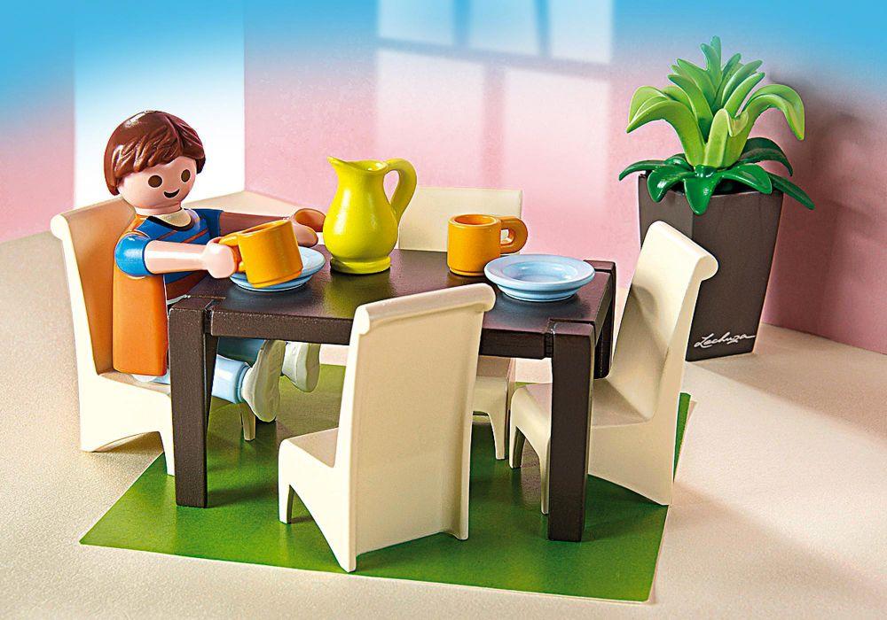 Playmobil dollhouse 5335 pas cher salle manger for Salle a manger playmobil