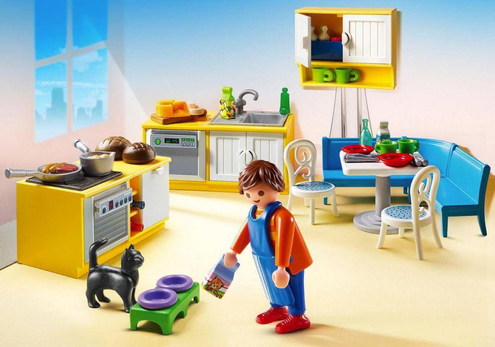 playmobil dollhouse 5336 pas cher cuisine avec coin repas. Black Bedroom Furniture Sets. Home Design Ideas
