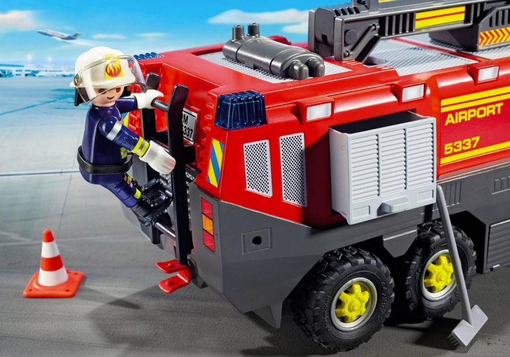 Playmobil city action 5337 pas cher pompiers avec - Caserne pompier playmobil pas cher ...