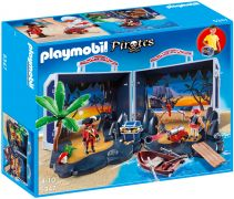 PLAYMOBIL Pirates 5347 Ile au trésor des pirates transportable