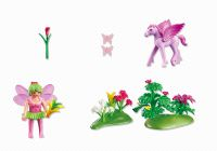 PLAYMOBIL Fairies 5351 Fée Printemps avec poulain ailé rose