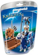 PLAYMOBIL Knights 5356 - Piste de joute du chevalier Lion royal pas cher
