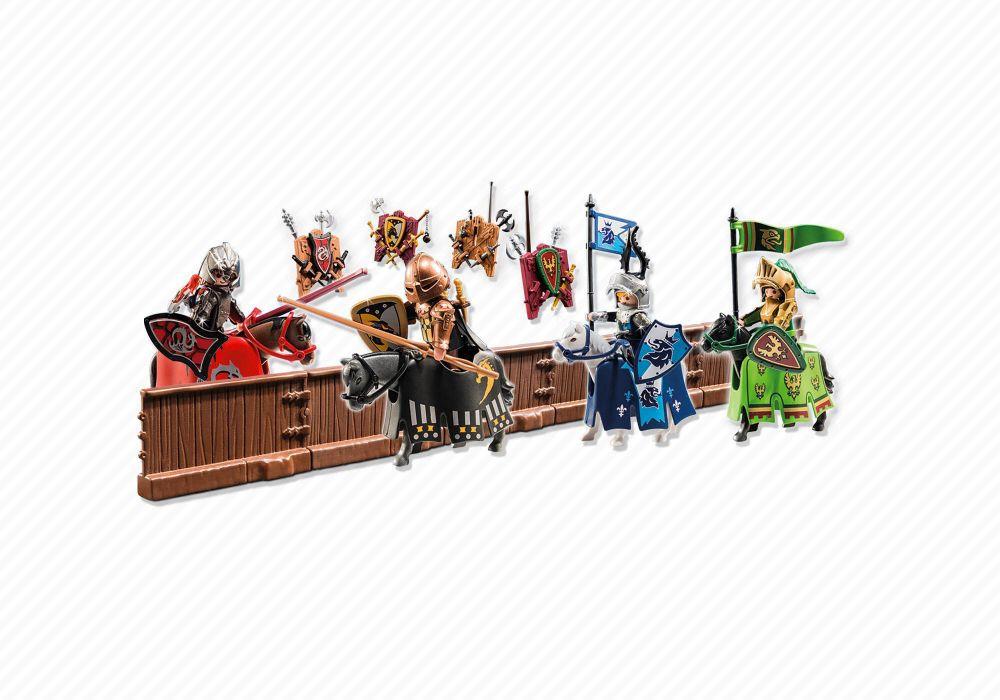playmobil knights 5358 piste de joute du chevalier dragon ail - Playmobile Chevalier