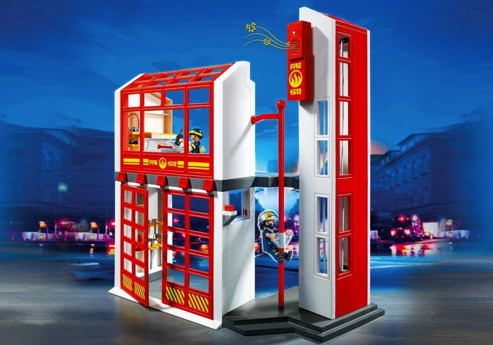Playmobil city action 5361 pas cher caserne de pompiers - Caserne pompier playmobil pas cher ...