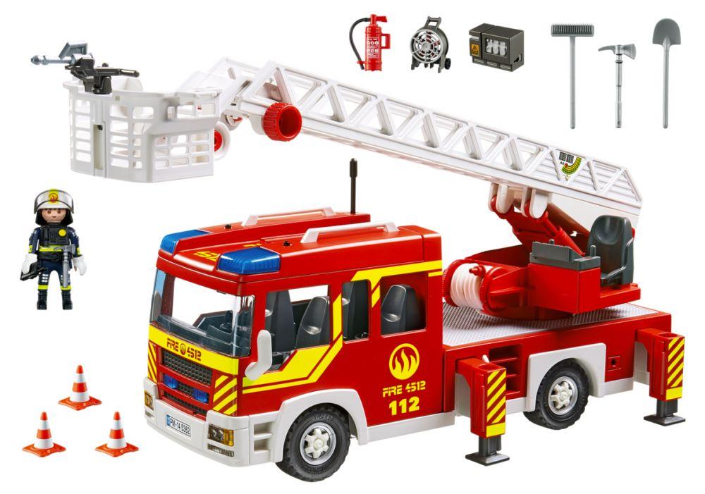 Playmobil city action 5362 pas cher camion de pompier - Caserne pompier playmobil pas cher ...