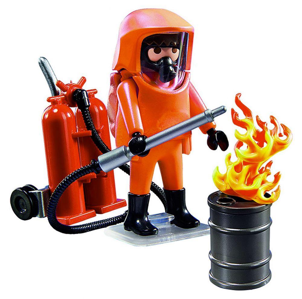 Playmobil city action 5367 pas cher pompier avec - Playmobil de pompier ...