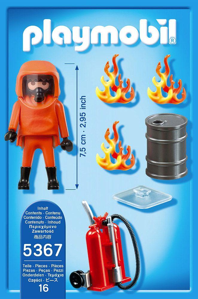 Playmobil city action 5367 pas cher pompier avec - Caserne pompier playmobil pas cher ...