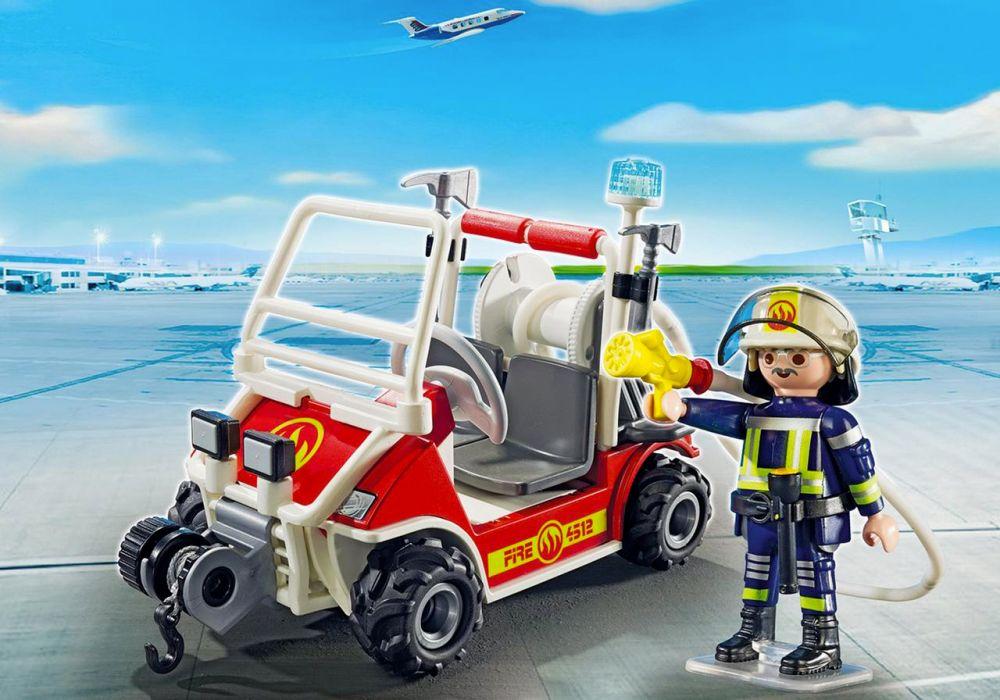 playmobil city action 5398 chef des pompiers avec voiturette - Playmobil Pompier