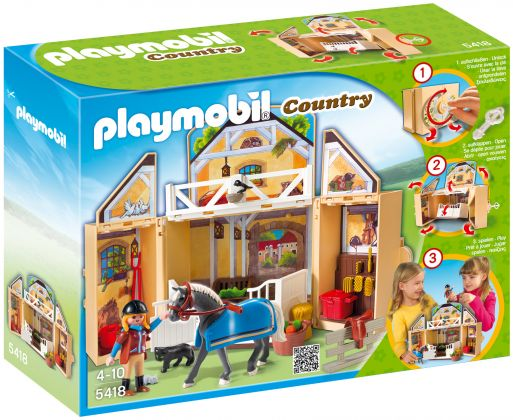 "PLAYMOBIL Country 5418 Coffre ""Ecurie"""
