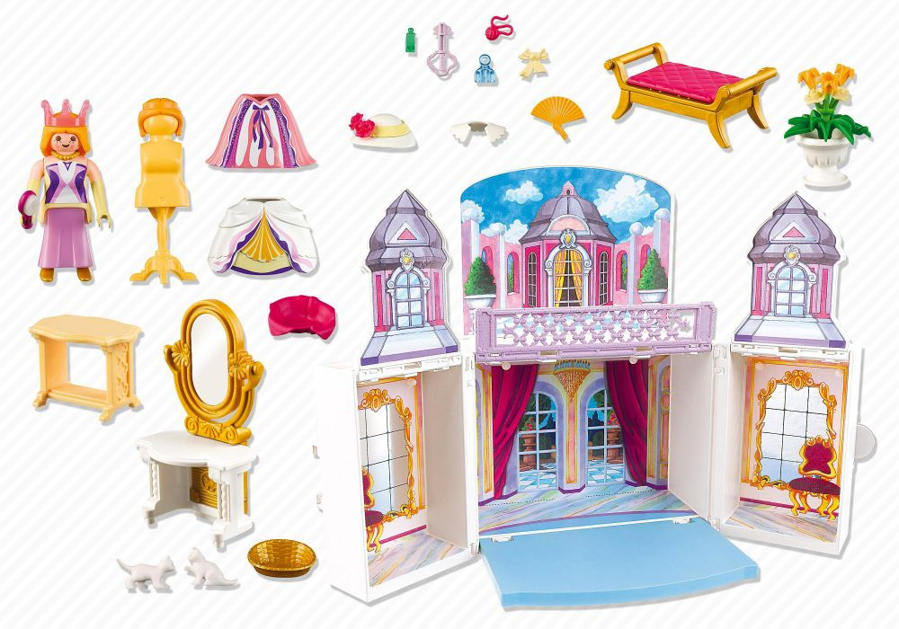 Playmobil princess 5419 pas cher coffre princesse for Palais princesse playmobil
