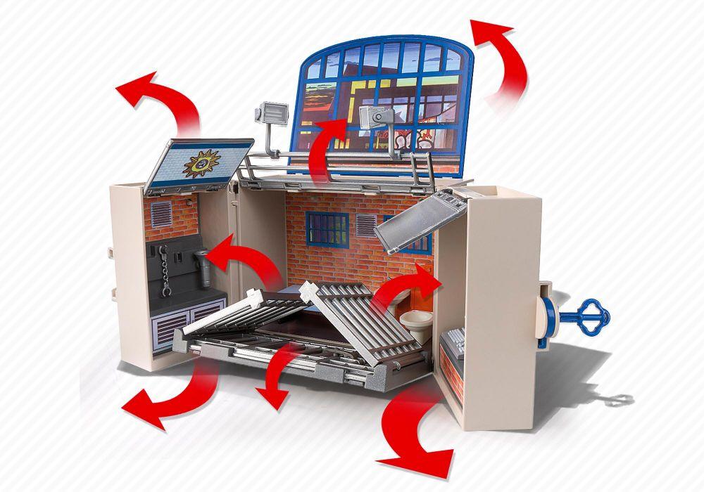 playmobil city action 5421 pas cher coffre poste de police. Black Bedroom Furniture Sets. Home Design Ideas