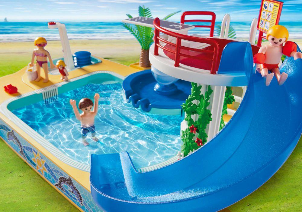 Playmobil Summer Fun  Pas Cher  Famille Avec Piscine Et Plongeoir
