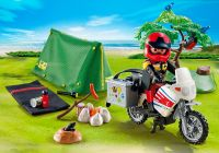 PLAYMOBIL Summer Fun 5438 Motard et tente de camping