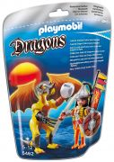 PLAYMOBIL Dragons 5462 Dragon de pierre avec guerrier
