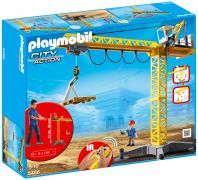 PLAYMOBIL City Action 5466 Grande grue de chantier radio-commandée