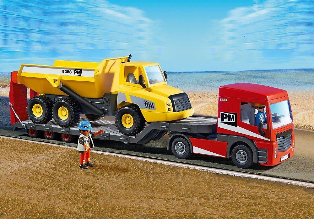 Playmobil city action 5468 pas cher grand camion benne basculante - Playmobil camion ...