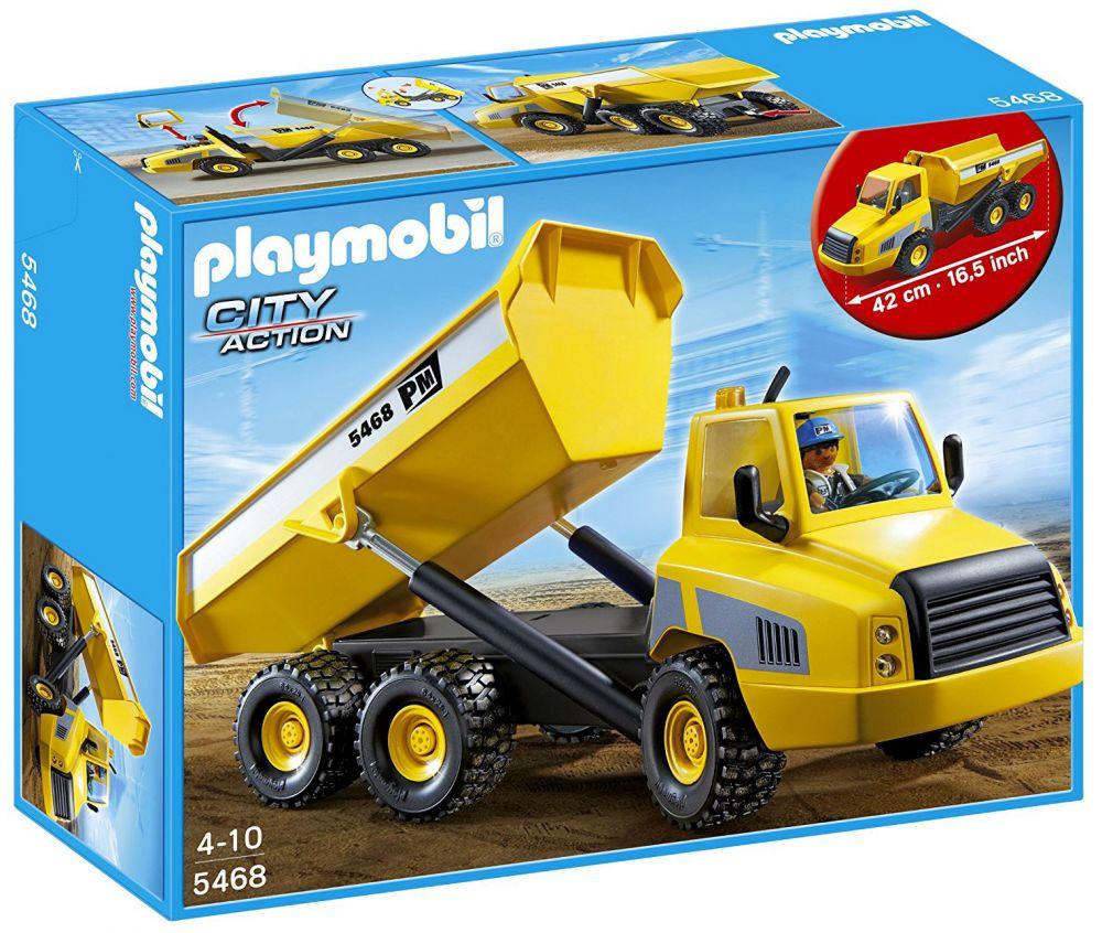 Playmobil city action 5468 pas cher grand camion benne - Playmobil camion chantier ...