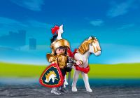 PLAYMOBIL Knights 5477 Chevalier d'Or et son cheval