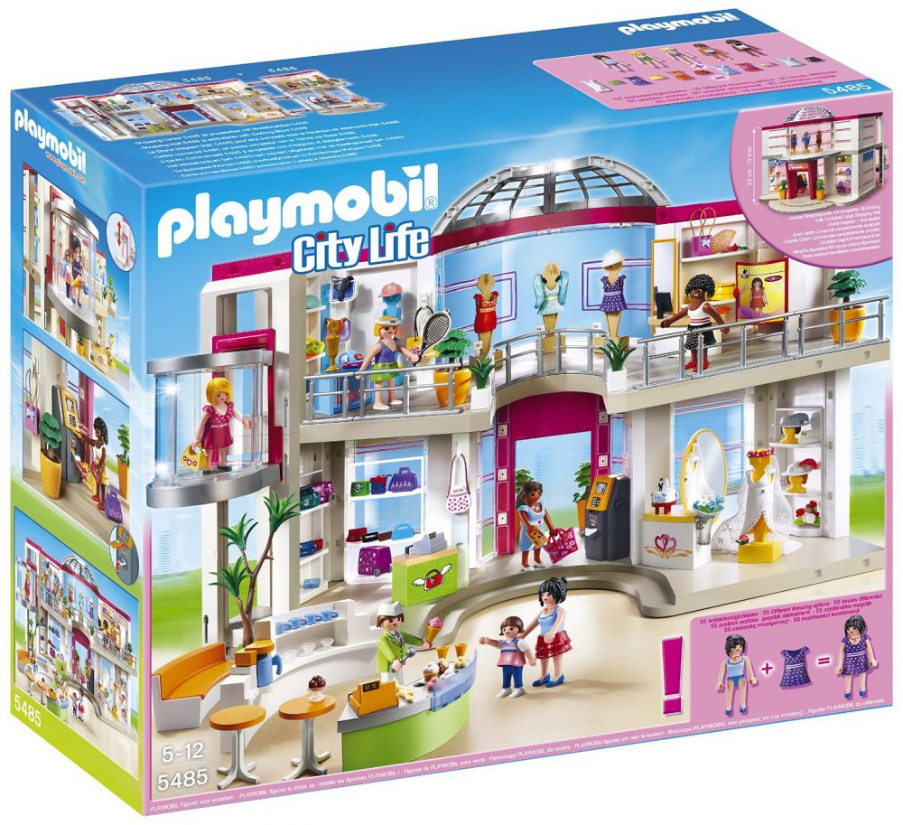 playmobil city life 5485 pas cher grand magasin am nag. Black Bedroom Furniture Sets. Home Design Ideas