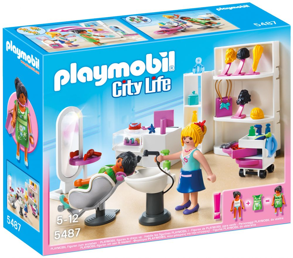 PLAYMOBIL City Life 5487 pas cher - Salon de beauté