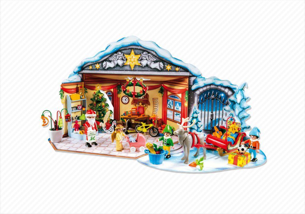 playmobil christmas 5494 pas cher calendrier de l 39 avent atelier de jouets avec p re no l et. Black Bedroom Furniture Sets. Home Design Ideas