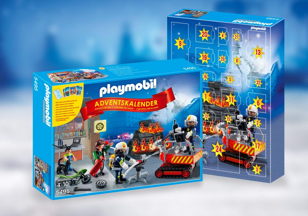 playmobil christmas 5495 pas cher calendrier de l avent brigade de pompiers. Black Bedroom Furniture Sets. Home Design Ideas