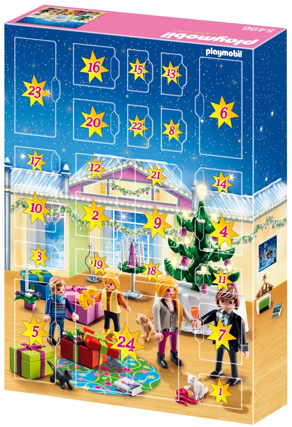playmobil christmas 5496 pas cher calendrier de l avent r veillon de no l. Black Bedroom Furniture Sets. Home Design Ideas