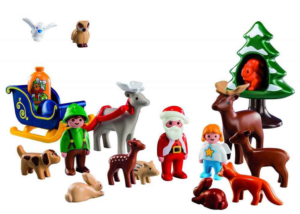 playmobil christmas 5497 pas cher calendrier de l avent 1 2 3 p re no l et les animaux de la for t. Black Bedroom Furniture Sets. Home Design Ideas