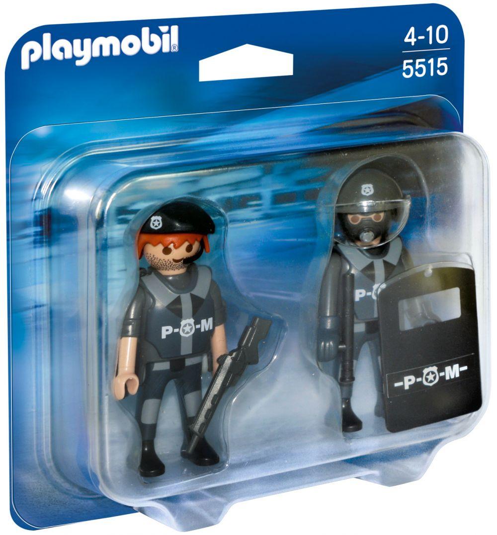 playmobil city action 5515 pas cher duo policiers des forces sp ciales. Black Bedroom Furniture Sets. Home Design Ideas