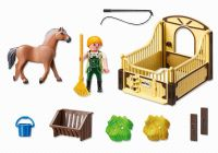 PLAYMOBIL Country 5517 Cheval Fjord et monitrice