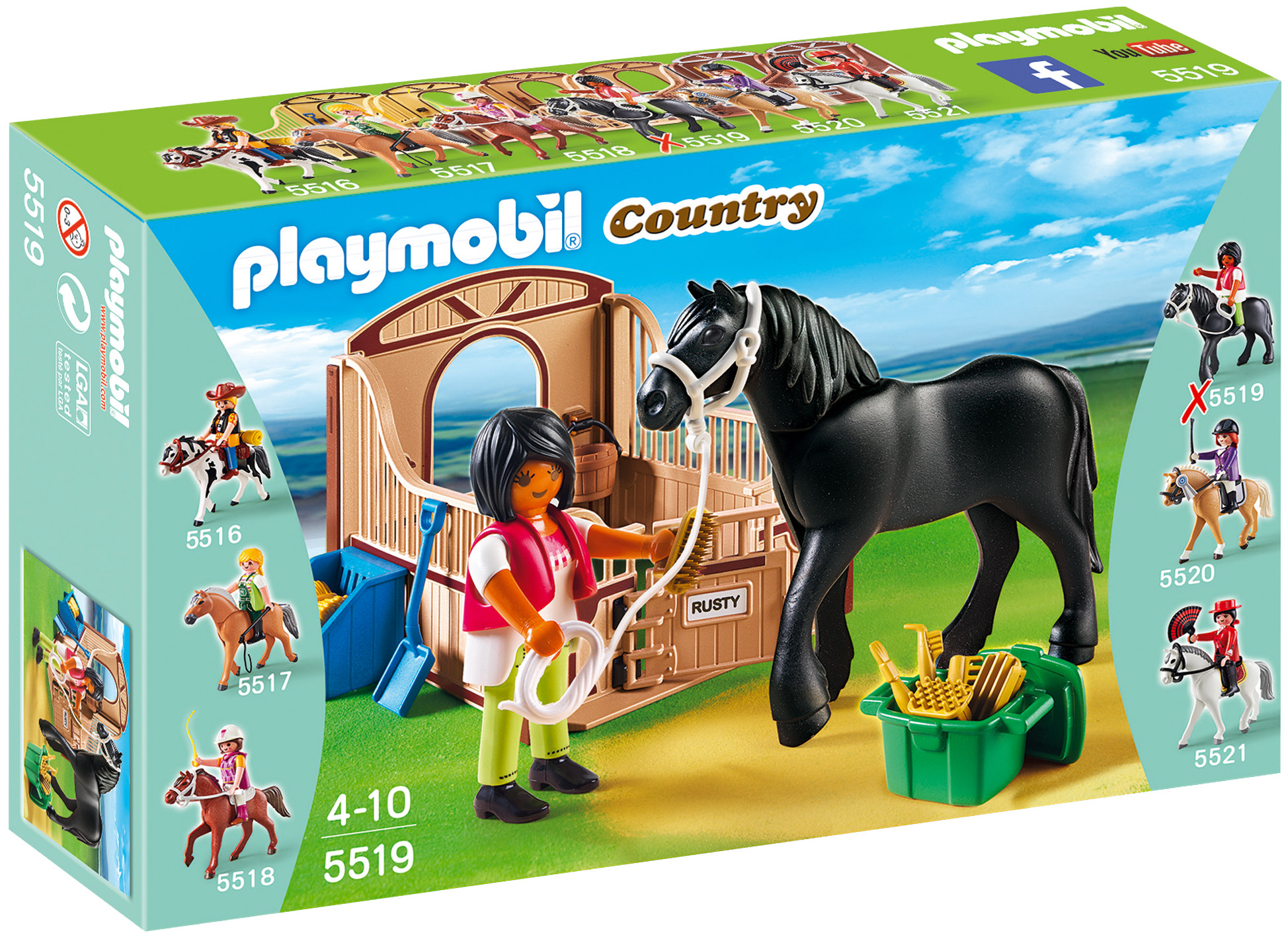 Playmobil country 5519 pas cher cheval frison et cuy re - Pferde playmobil ...