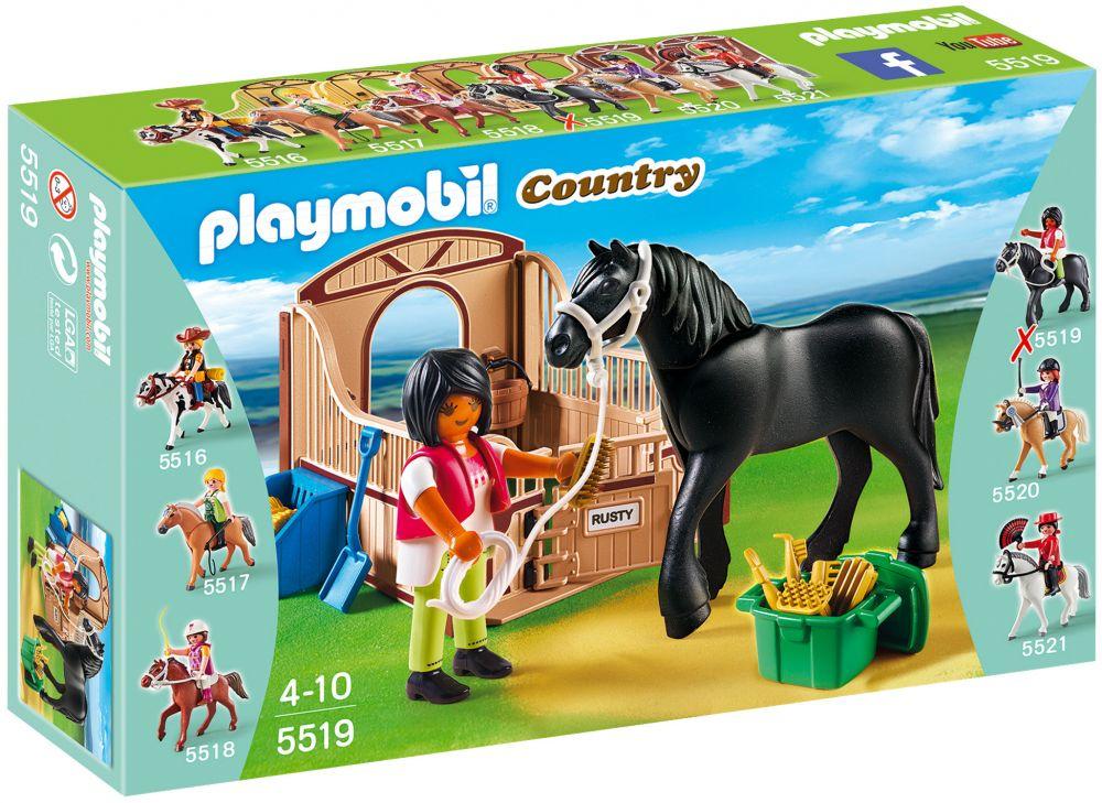 playmobil country 5519 pas cher cheval frison et cuy re. Black Bedroom Furniture Sets. Home Design Ideas