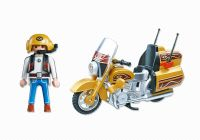 PLAYMOBIL Sports & Action 5523 Moto de route dorée