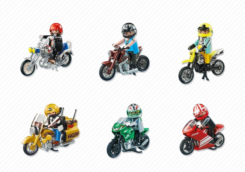 playmobil sports action 5524 pas cher moto de sport verte. Black Bedroom Furniture Sets. Home Design Ideas