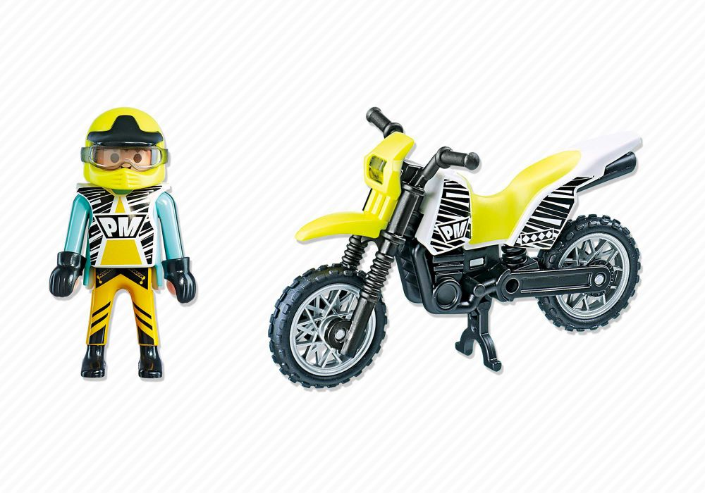 playmobil sports action 5525 pas cher moto enduro. Black Bedroom Furniture Sets. Home Design Ideas