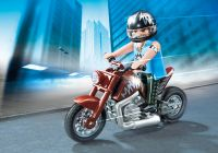 PLAYMOBIL Sports & Action 5527 Moto Custom marron