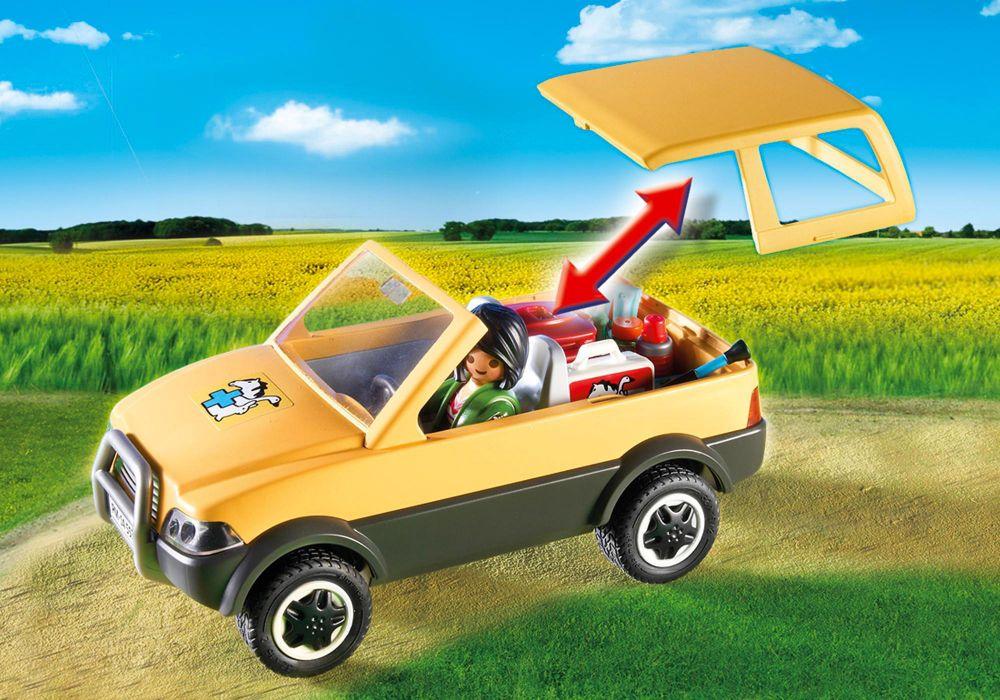 playmobil city life 5532 pas cher v t rinaire avec voiture et mat riel m dical. Black Bedroom Furniture Sets. Home Design Ideas