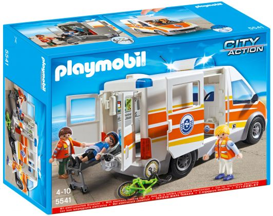 PLAYMOBIL City Action 5541 Ambulance avec secouristes