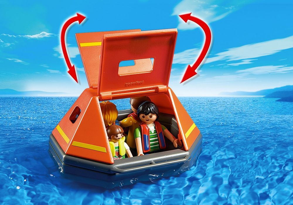 playmobil city action 5545 pas cher naufrag s avec radeau de survie. Black Bedroom Furniture Sets. Home Design Ideas