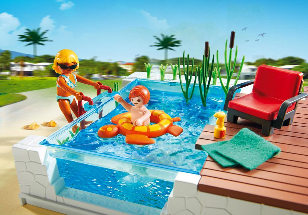 Playmobil city life 5575 pas cher piscine avec terrasse for Playmobil piscine avec terrasse